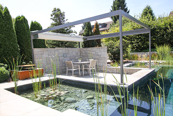 massgeschneiderte pergola und pavillon im garten. Black Bedroom Furniture Sets. Home Design Ideas